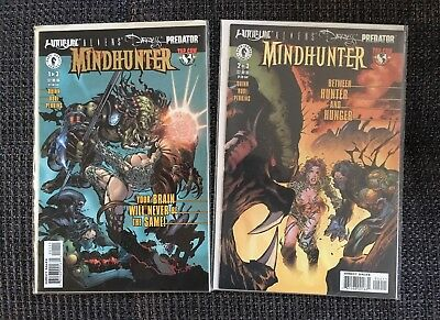 Witchblade/Aliens/Darkness/Predator #1-2 B Gold Foil Dynamic Forces/D.Turner Var