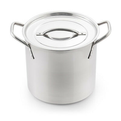 Stainless Steel Cooking Pot Stockpot Cooker Soup Pots Double Bottom Thickened AU