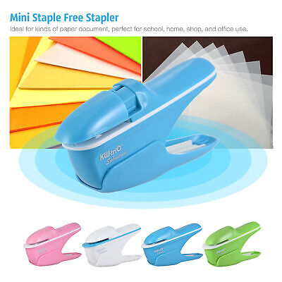 Creative Mini Stapler Safe Free Staple Office Paper Binding Stapleless Stapler