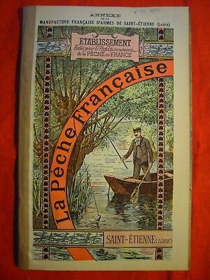 RARE MANUFRANCE de 1896 ! Ancien Catalogue PECHE MOUCHE TRUITE MOULINET FISHING