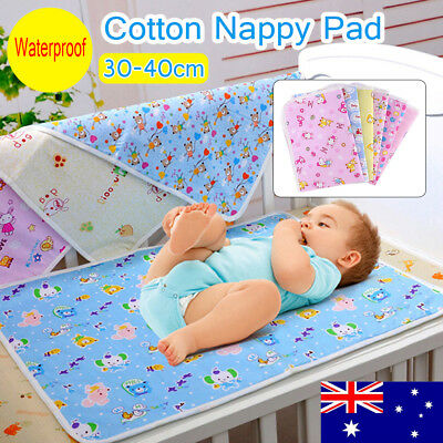 Waterproof Changing Diaper Pad Cotton Washable Infant Baby Boy Urine Mat Nappy A