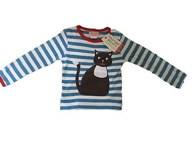 *Toby tiger* Blue Cat Stripe Long Sleeved Top (1-2 Years) BNWT RRP £20.99