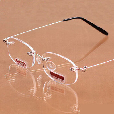 1Pc Women Men Rimless Reading Glasses Ultra Light Presbyopic Glasses +1.0 ~ +4.0