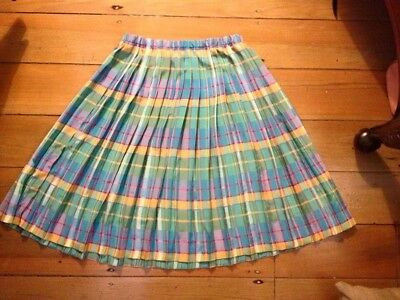 Pleated Vintage Retro Pinup Skirt Size 12