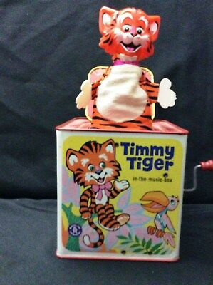Timmy Tiger Jack-in-the-Box 1968 Mattel Working Excellent Condition