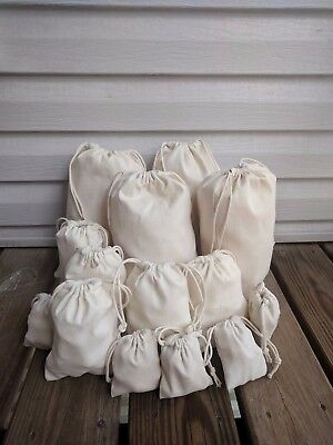 8 x 10 Inches Cotton Canvas Muslin Bag. High Quality Fabric. Wholesale Prices.