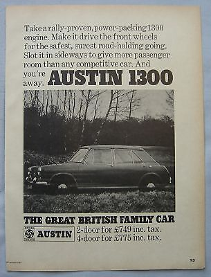 1968 Austin 1300 Original advert No.1
