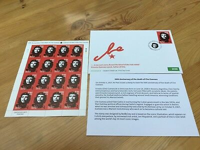 FDC & First Run Of Stamps 50 Year Anniversary Of Che Guevara's Death