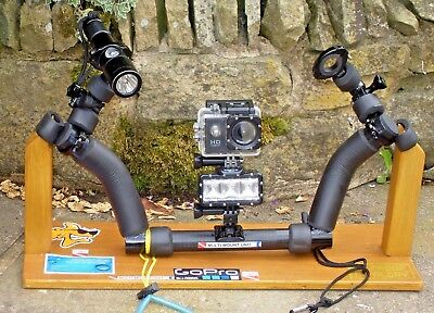 Diving Camera Mounting Unit With Lights And Camera