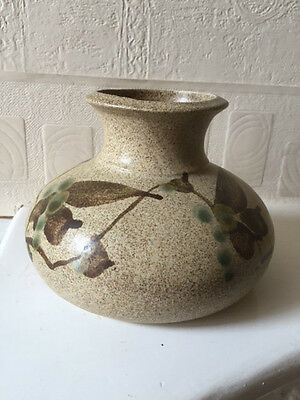 Hand Made Studio Vase American Signed Independent Pottery