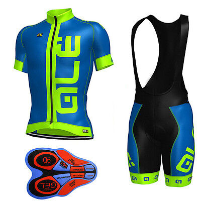 D050 2017 Men's cycling team sports Clothing MTB bike jersey 9D bib shorts Set