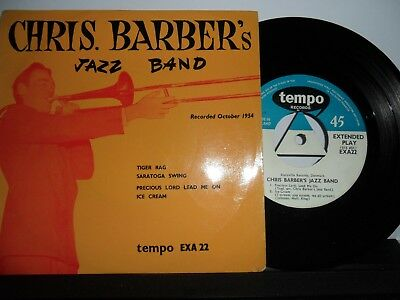 """Chris Barber's Jazz Band.tempo 4 Track Ep.7"""".45Rpm"""