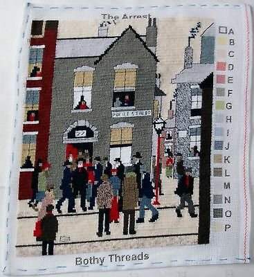 New Completed tapestry The Arrest by Laurence Stephen Lowry