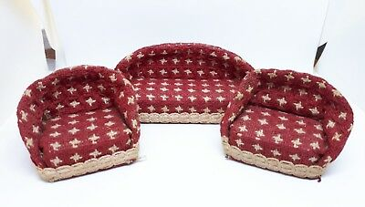 Twiggs sofa chair seat suite set 1:16 dolls house