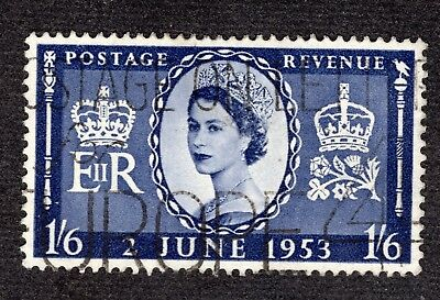Great Britain 1953 Coronation 1/6 SG535 FINE USED R39282