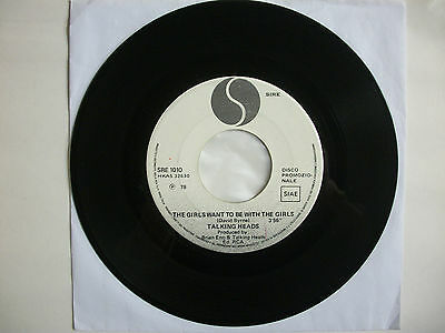 """Talking Heads - The Girls Want To Be With The Girls 7"""" (1978) Rare Promo Nm"""