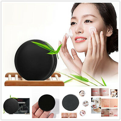 Black Bamboo Charcoal Soap Face Clear Anti Bacterial Whitening Soap