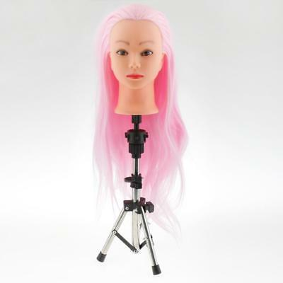 Hairdressing Stainless Steel Cosmetology Mannequin Head Holder Tripod Stand