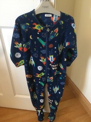 Lovely Next One Piece / PJs Boys 18-24 Months Space / Rocket Theme
