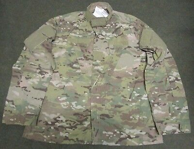 New Genuine Us Army Crye Multicam Flame Resistant Combat Jacket. Large-Regular.