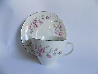 Vintage Cup and Saucer Set Bone England Johnson Bros *small chip bottom of cup