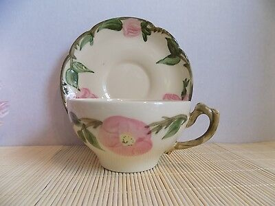 Vintage Cup and Saucer Set Made in USA hand Decorated