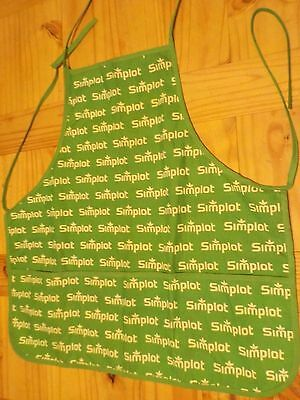 Vintage Green Simplot Cotton Apron