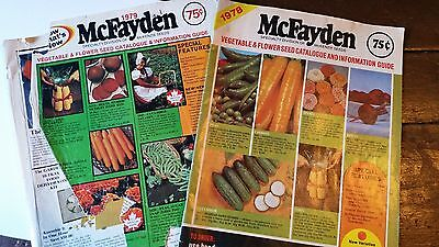 Vintage Ephemera Booklet Brandon Manitoba Catalogue Seeds McFayden 1978 1979