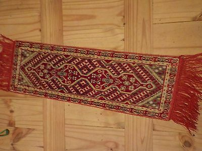 Vintage Table Runner 25.5 Inches Long Rug Style Plush