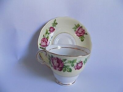 Vintage Cup and Saucer Set Bone China Made in England Colclough