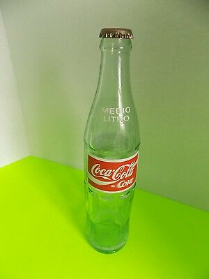 Vintage Coke Coca-Cola Glass Soda Pop Bottle Mexico Spanish 500 ML