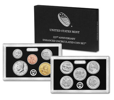 2017-S US Mint 225th Anniversary Enhanced Uncirculated 10-Coin Set (W/Box & COA)