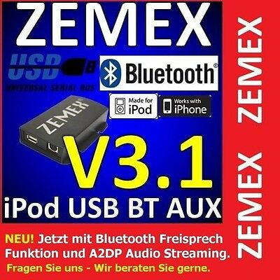 Zemex V3.1 Bluetooth A2DP USB  MP3 Adapter für Rover  Lancia