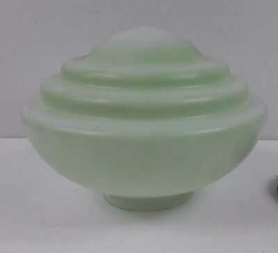 Retro/Vintage green glass art deco beehive style lamp/light shade