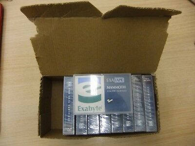 NEW NINE x EXABYTE 125m AME 14GB  Native 8mm DATA TAPE CARTRIDGES