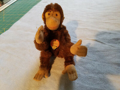 vintage Steiff Jocko monkey poseable arms and legs nice chest tag