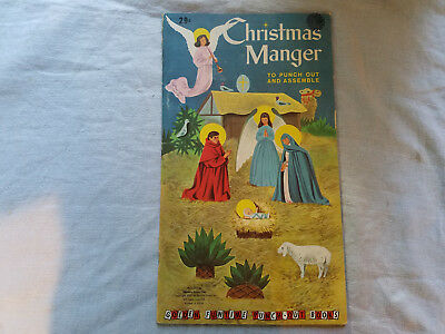 Christmas Manger Golden Funtime Punch-out books 1959