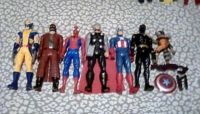 Lot of 14 Marvel Titan Heroes Figues ~ Wolverine, Thor, Spider-Man, Iron Man +++
