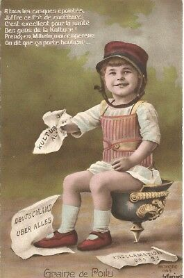 Rare WWI humorous postcard addressed to a girl living in Abbeville, Somme.