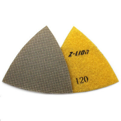 93mm Electroplated Diamond Triangular Dry Polishing /Buffing Pad 120 Grit