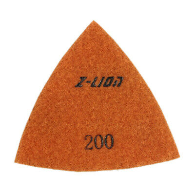 200 Grit Electroplated Triangular Polishing Diamond Oscillating Pads 80mm