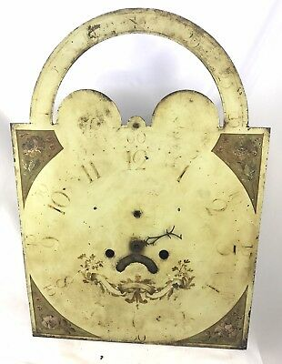Antique Long Case Grandfather Clock Dial And Movement William Foster Manchester