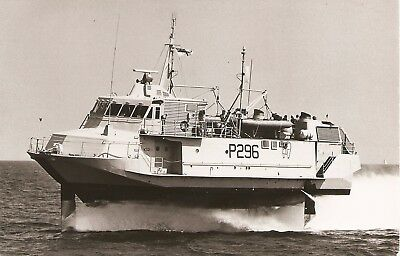 ROYAL NAVY.,    HMS SPEEDY,  P296,    1980,   short lived Boeing Jetfoil