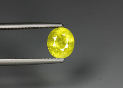 2.20 Cts_FAIRGEMS COLLECTION_100 % NATURAL TITANITE LIME YELLOW SPHENE_RUSSIA