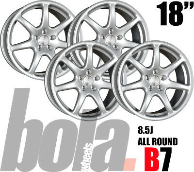 """18"""" BOLA B7 SILVER 5 STUD 8.5J SET OF 4 NEW WHEELS Land Rover DISCOVERY 04-09"""