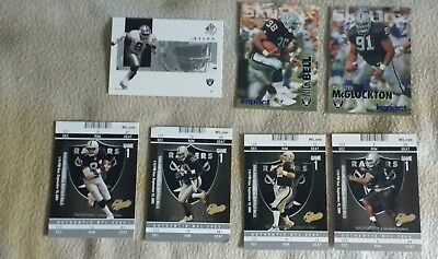 7 Oakland Raiders Trading Cards.