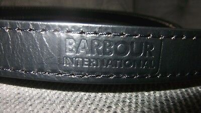 barbour international black leather dog lead new with tags for the stylish dog