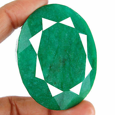464 Cts Natural Huge Emerald Pendant Size Finest Green Earth Mined Gemstone