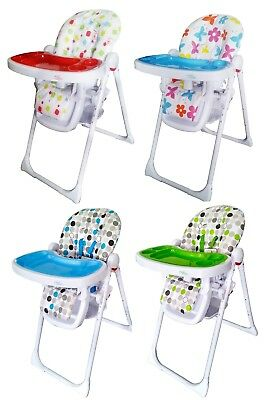 Bebe Style Hilo Burst Highchair Baby Child Feeding Multi Height+Tray Recline NEW