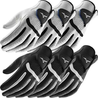 **Pack of 3** Mizuno Mens 2017 All Weather Comp Mens Golf Gloves - Left Hand